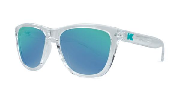Knockaround Sunglasses - UV400 Sun Protection - Clear and Green (Ages 1 - 5)