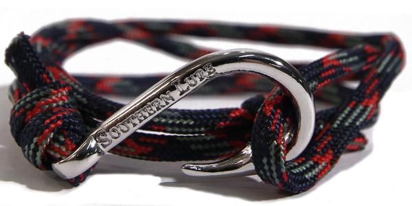 Southern Lure - Youth Bracelet - Grey/Red