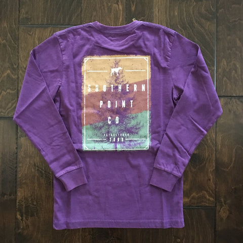 Southern Point - Tree Logo Signature LS Tee - Purple