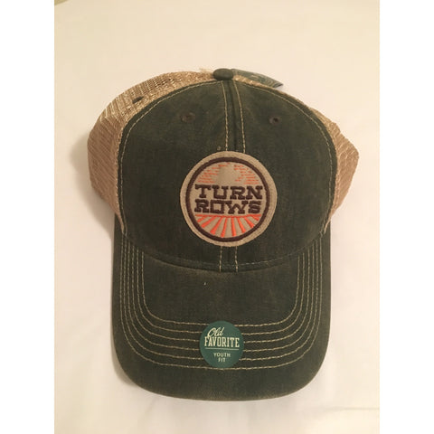 TURNROWS - Youth Green Trucker Hat - One Size Fits All