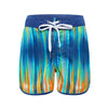 Aqua Blu - Boys WaveRat Neon Lights Retro Boardshorts