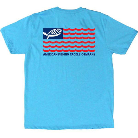 AFTCO - Youth Boys Aflag T-Shirt - Neon Sky Heather