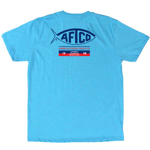 AFTCO - Youth Boys Fifty Eight T-Shirt - Neon Sky Heather