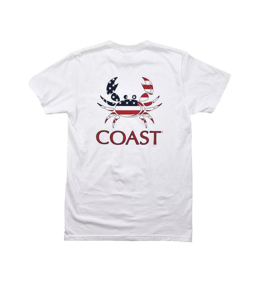 Coast Apparel - American Crab Tee - White