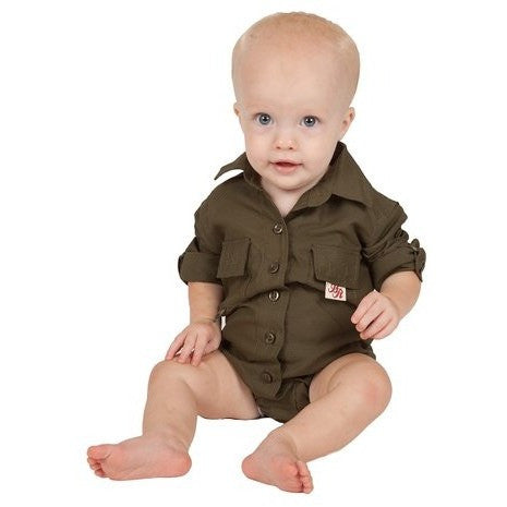 BullRed Clothing - Sun Protective Fishing Onesie - Green (18M, 24M Available)