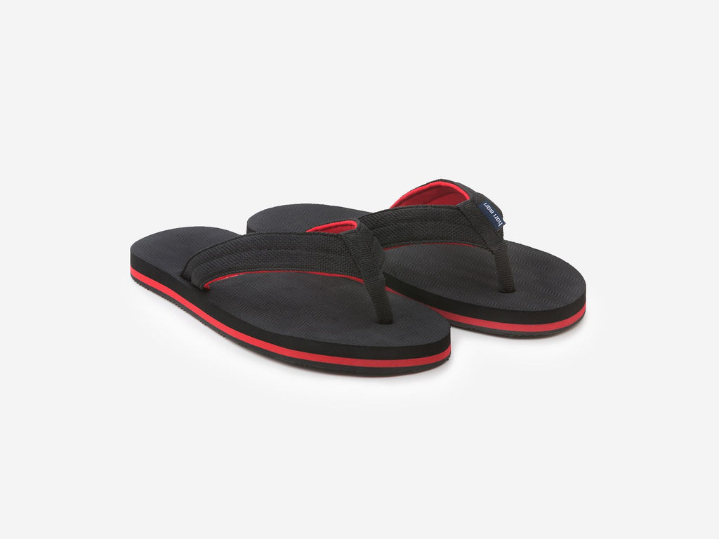Hari Mari - Youth Dunes Flip Flops - Black and Red
