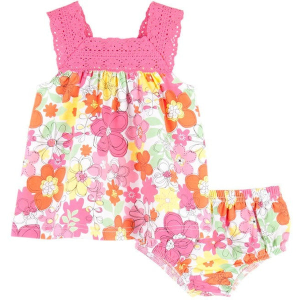 le top - DAISY CRAZY dress and panty with crocheted neckline (3M, 6M Available)