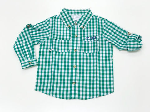 Prodoh - Gingham Shirt - Forest Green
