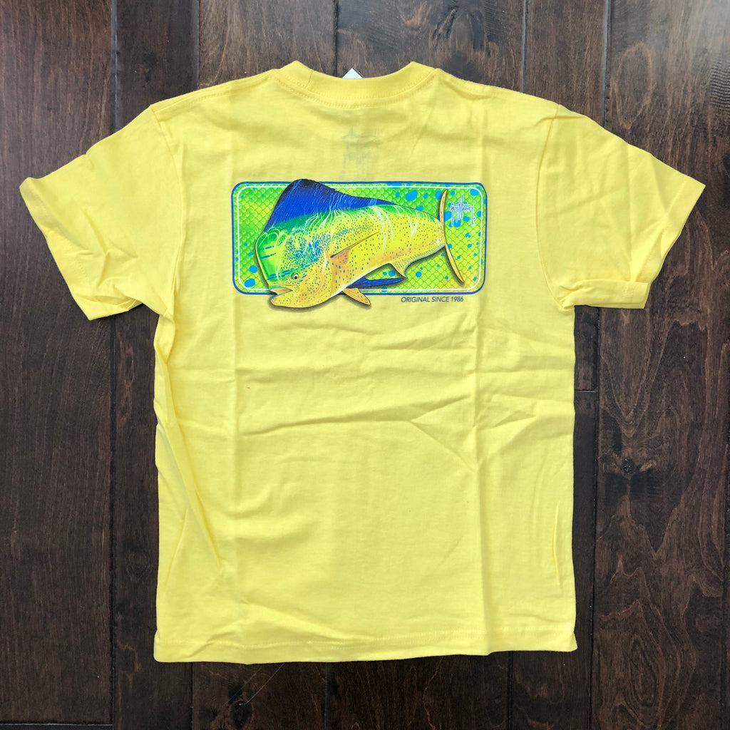 Guy Harvey - Mahi Skin Boy's Shirt - Canary Yellow