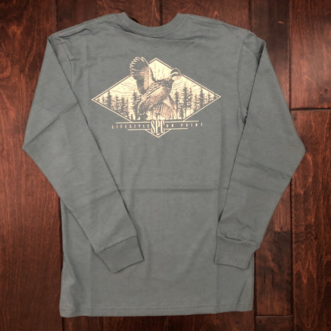 Southern Point - Youth On the Fly LS Tee - Light Gray