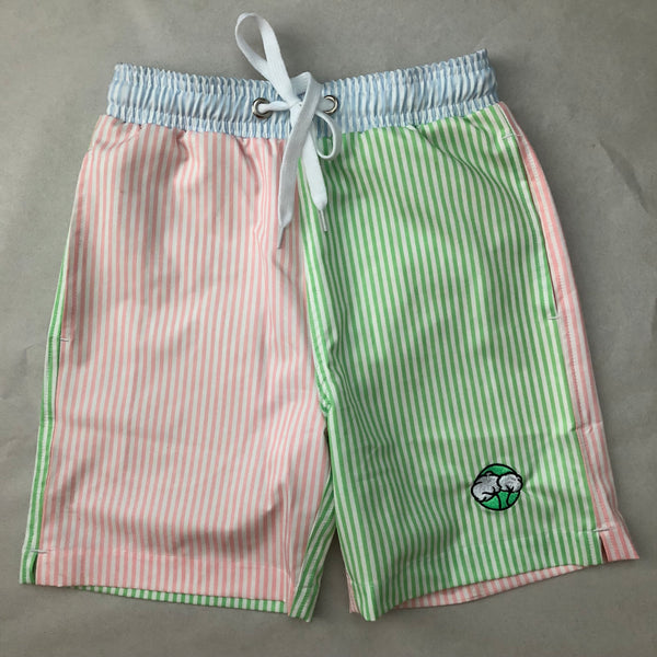 Youthful Cotton - Toddler, Boys, and Mens Striped Swim Trunks