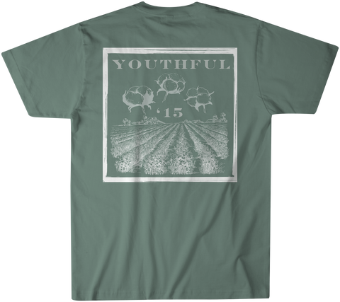 Youthful Cotton - Toddler, Youth, & Adult YC Cotton Fields SS Tee - Field Green