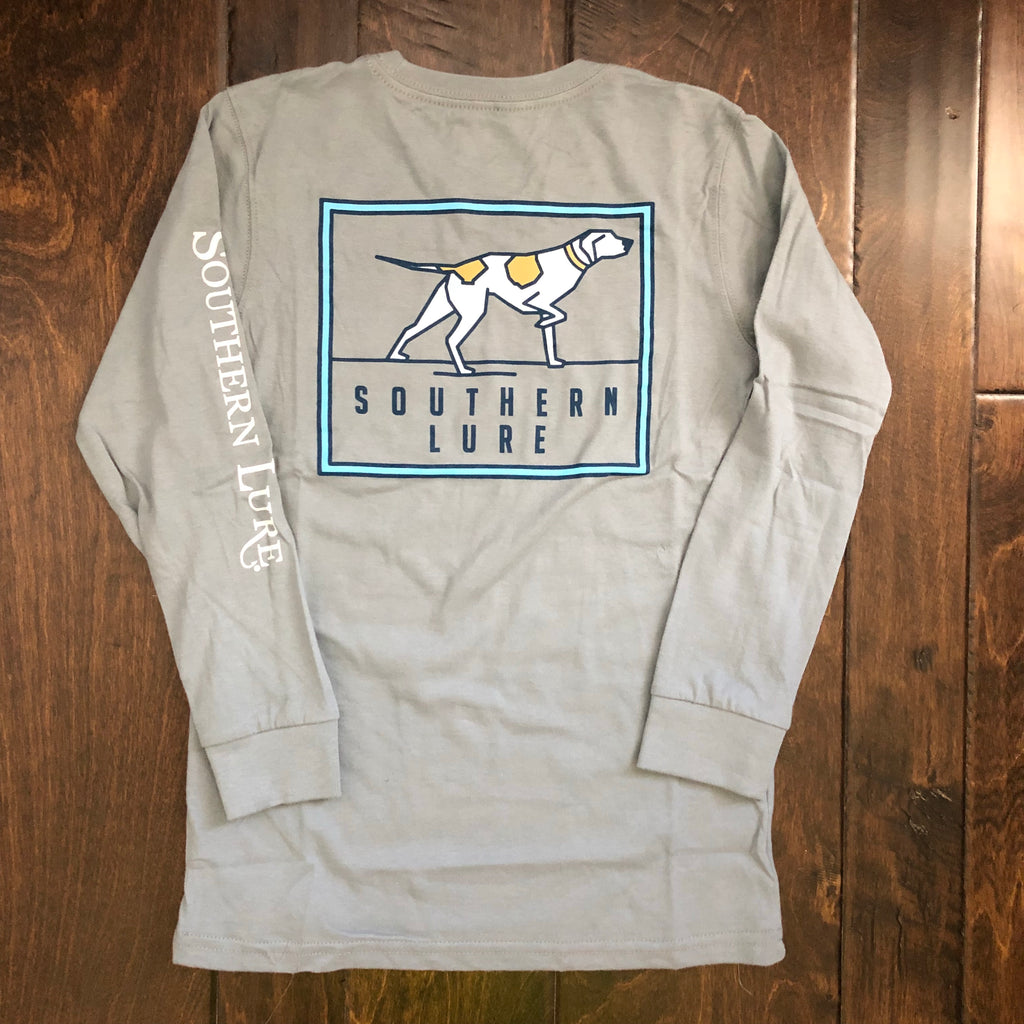 Southern Lure - Toddler & Youth LS Pointer Badge Tee - Granite