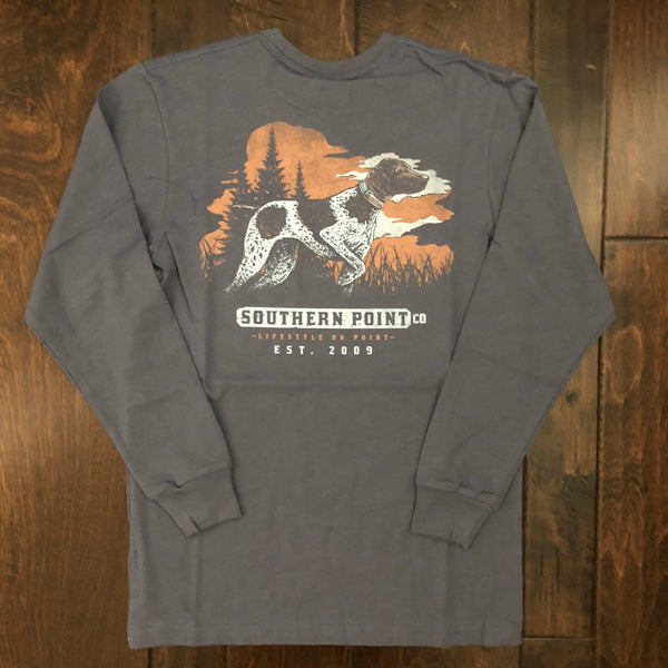 Southern Point - Youth Greyton Landscape LS Tee - Steel