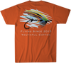 Youthful Cotton - Toddler, Youth, & Adult Fly Fishing SS Tee - Burnt Orange