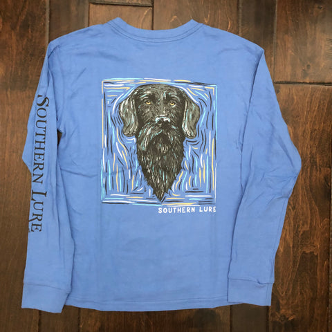 Southern Lure - Youth LS Bearded Dog Tee - Dusk