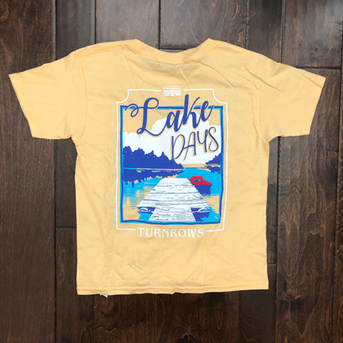 Turnrows - Lake Days Youth SS Tee - Yellow