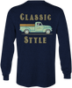 Youthful Cotton - Toddler, Youth, & Adult Classic Style LS Tee - Navy