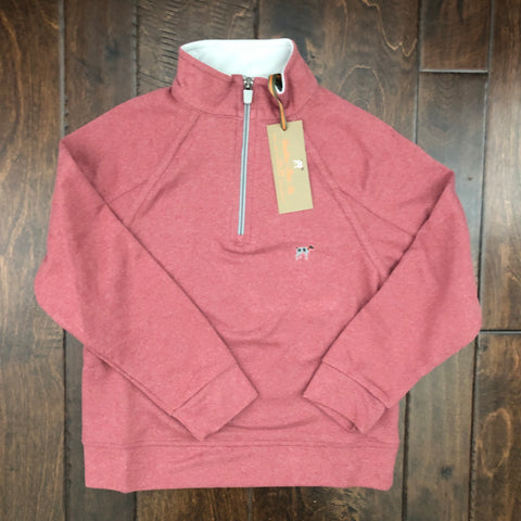Southern Point - Wellington Youth Pullover - Faded Red Heather