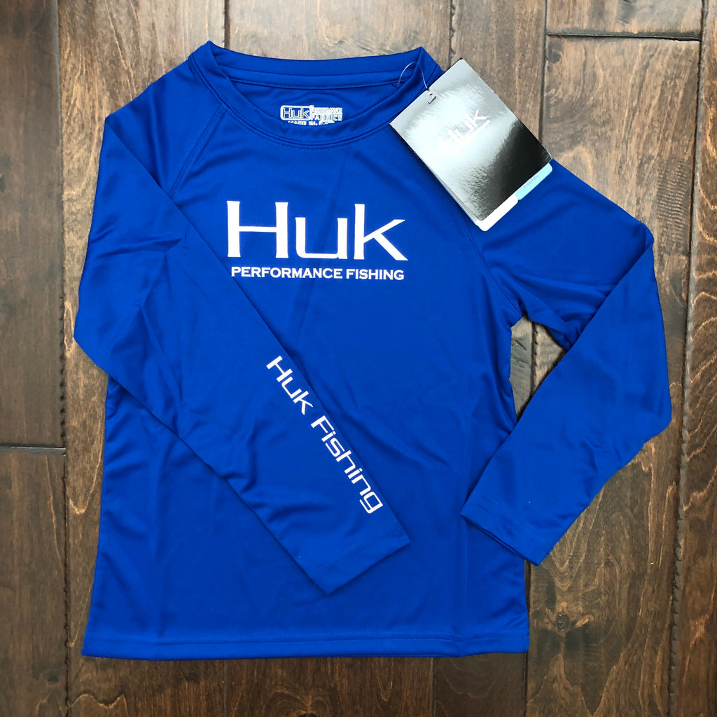 HUK Performance Fishing - Youth Performance Raglan LS Performance Tee - Royal
