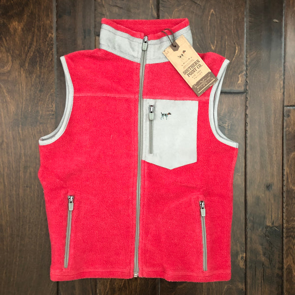 Southern Point - Youth Bennington Vest - Red/Gray