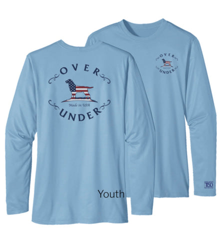 Over Under - L/S Youth Tidal Tech Flag Logo