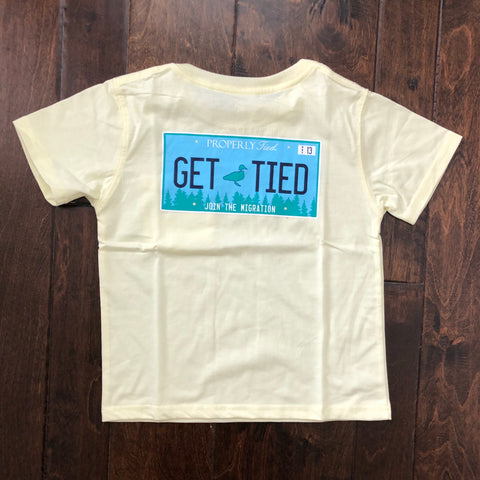 Properly Tied - Get Tied SS Tee - Light Yellow