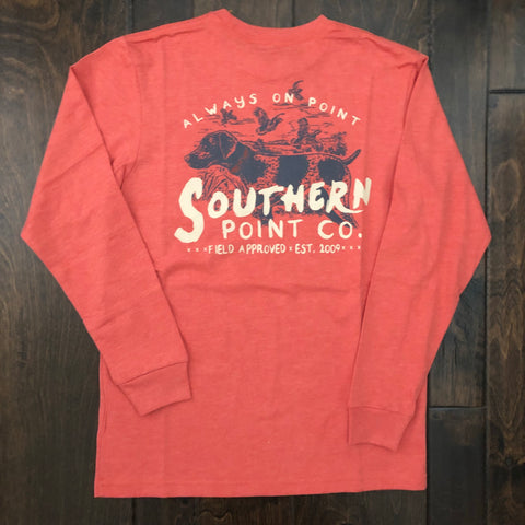 Southern Point - Youth Field Approved LS Tee - Orange Heather