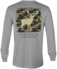 Youthful Cotton - Toddler, Youth, & Adult Camo Buck LS Tee - Gray