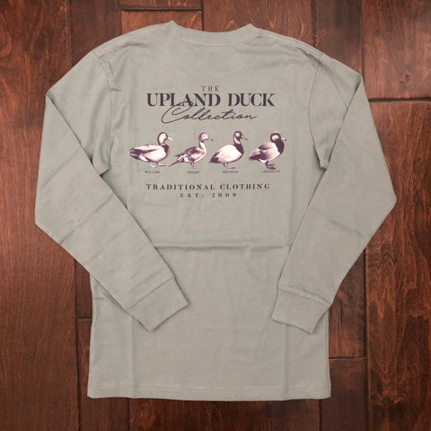 Southern Point - Youth Upland Duck Collection LS Tee - Silver