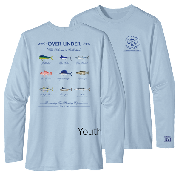Over Under Clothing - L/S Youth Tidal Tech Bluewater Collection - Blue