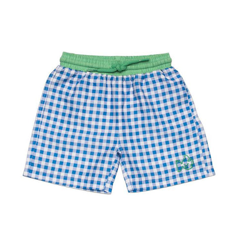 Prodoh - Gingham Swim Trunks - Cornflower Blue