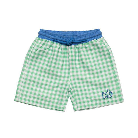 Prodoh - Gingham Swim Trunks - Spring Bud