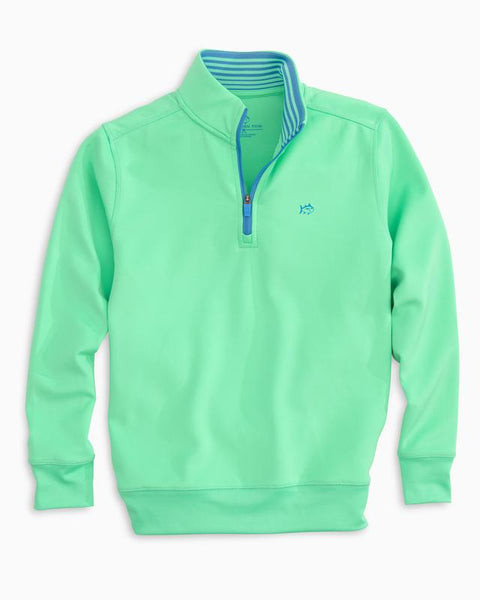 Southern Tide - Youth LS Breakwater Performance 1/4 Pullover - Cockatoo