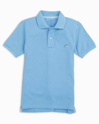Southern Tide - Boys Skipjack Polo - Ocean Channel