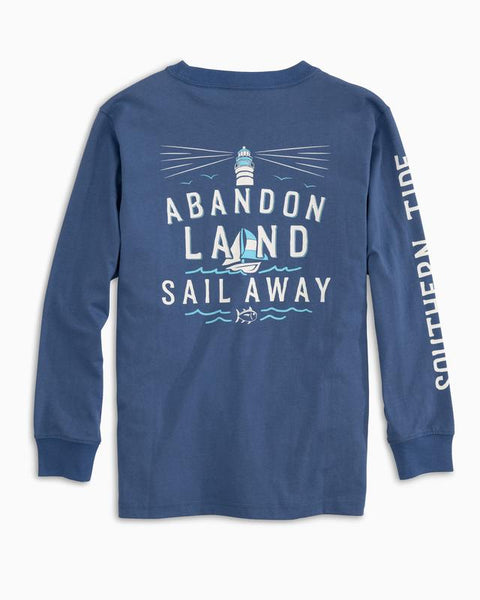 Southern Tide - Youth LS Abandon Land Tee - Dutch Blue