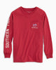 Southern Tide - Youth LS Abandon Land Tee - Garnet Rose