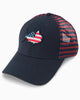 Southern Tide - Boys' Flag Skipjack Striped Trucker Hat - Navy