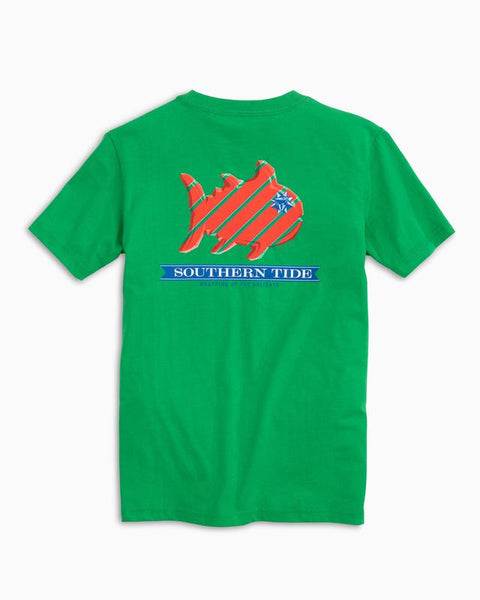 Southern Tide - Youth' SS Gift Wrap T-Shirt - Grass Green