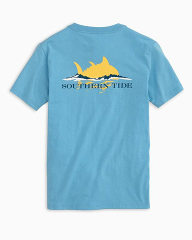 Southern Tide - Youth' SS Sunset T-Shirt - Ocean Channel