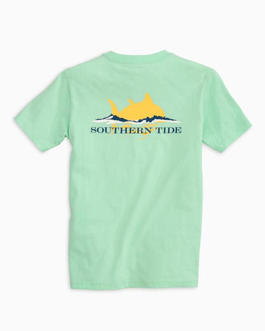 Southern Tide - Youth' SS Sunset T-Shirt - Offshore Green