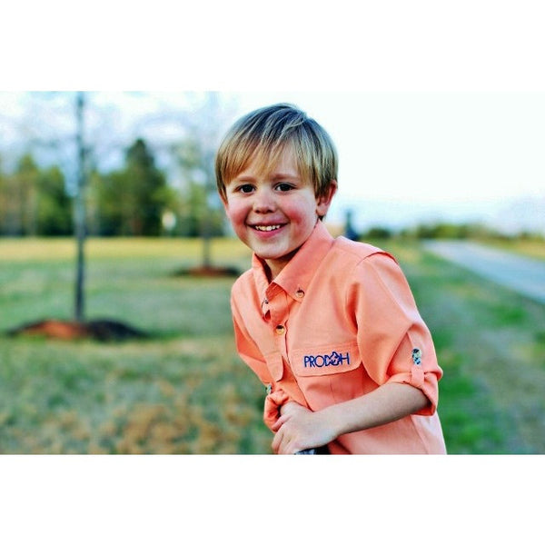 Prodoh Tangerine Sun Protective Youth Shirt