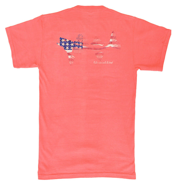 Coastal Cotton - Flag Youth SS Tee - Persimmon