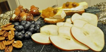 Heart of Hearts Fruit, Cheese, and Nuts Platter