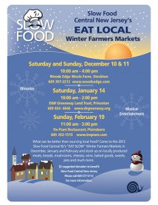Slow Food Central New Jersey Winter Markets Flyer