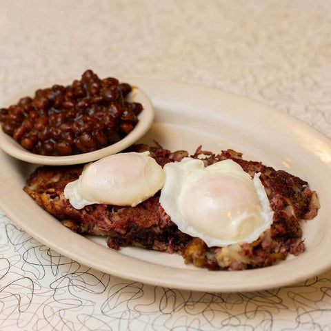 Doc's Hash & Eggs (serves 10)