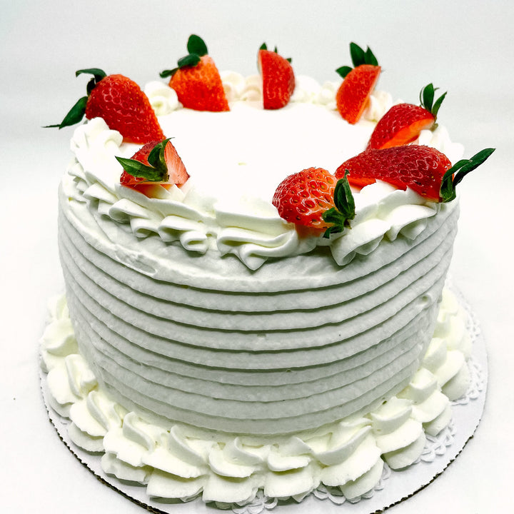 Whipped Cream and Strawberry Cake