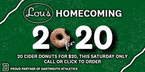 20 for 20 Homecoming Donuts