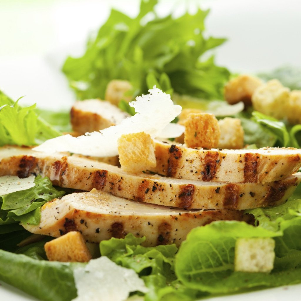 Chicken Caesar Salad Meal Lous Restaurant Bakery
