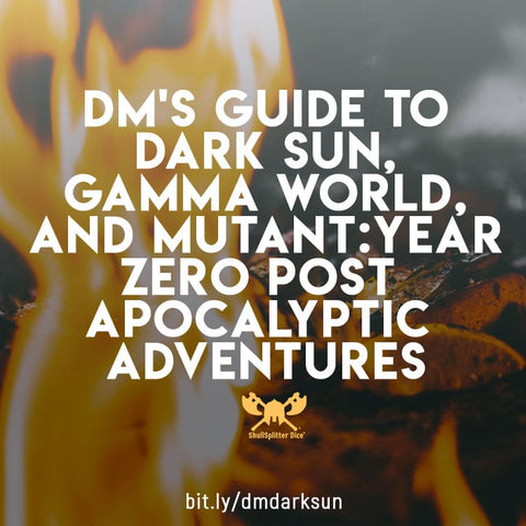 Dark Sun Gamma World Mutant:Year Zero